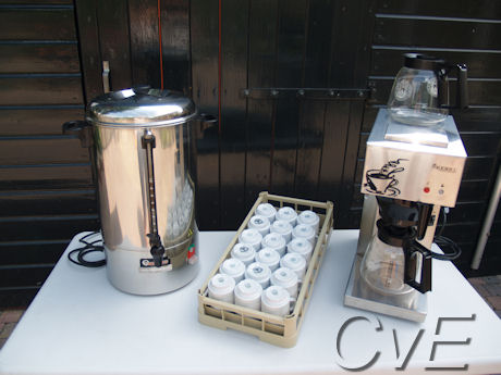 Perculator Koffiezetapparaat Kopjes