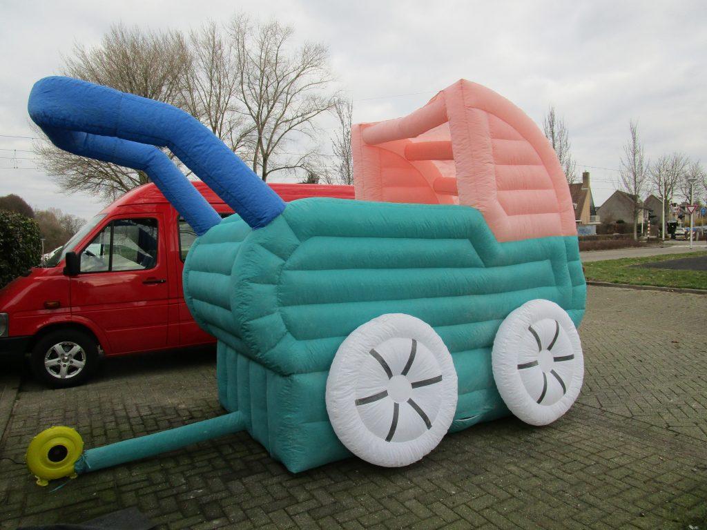 Opblaas kinderwagen